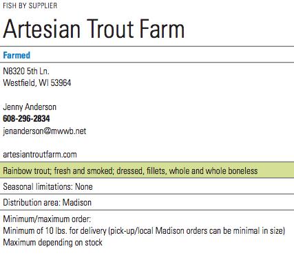 Artesian Trout Info