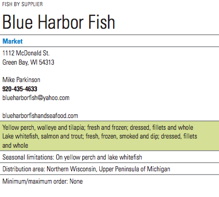 Blue Harbor Fish Info