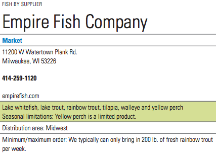Empire Fish Info